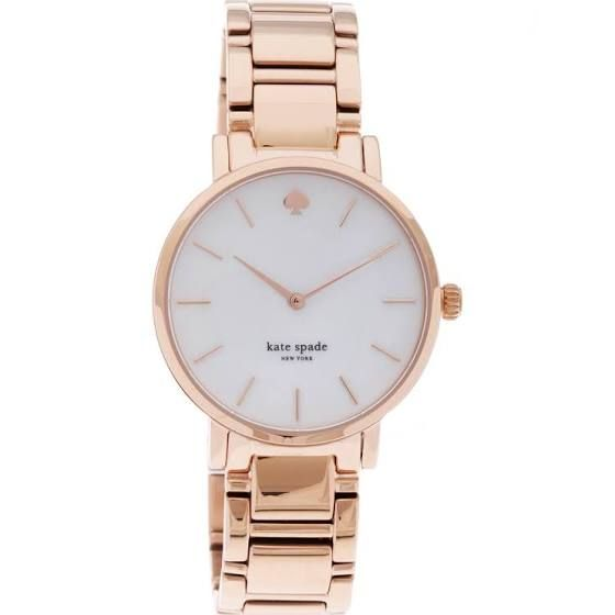 kate spade New York Women's 1YRU0003 'Gramercy' Rose Goldtone Bracelet Watch by…