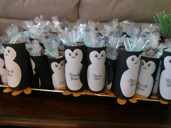 penguin party favors super cute and easy baby jade pinterest