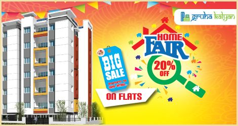 GRUHAKALYAN HOME FAIR 20% OFF ON FLATS BIG SALE OPPORTUNITY FOR HOME BUYERS BEST CUSTOMER SERVICES NO PRE EMI NO OTHER DEPOSIT CHARGES VISIT:WWW.GRUHAKALYAN.COM CALL:7338667103 , 7338667107 , 7338667104 ,7349787324