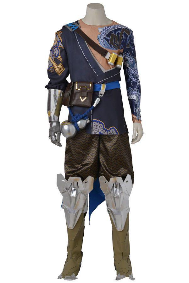 Game Hanzo Shimada Cosplay Costume Accessories Customize Halloween Hanzo Suit