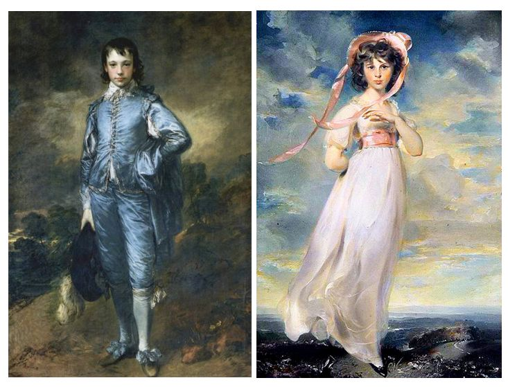 The Blue Boy By Thomas Gainsborough And Pinkie Lawrence