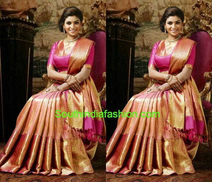 Stunning Kanchipuram Bridal Saree ~ Celebrity Sarees, Designer Sarees, Bridal Sarees, Latest Blouse Designs 2014