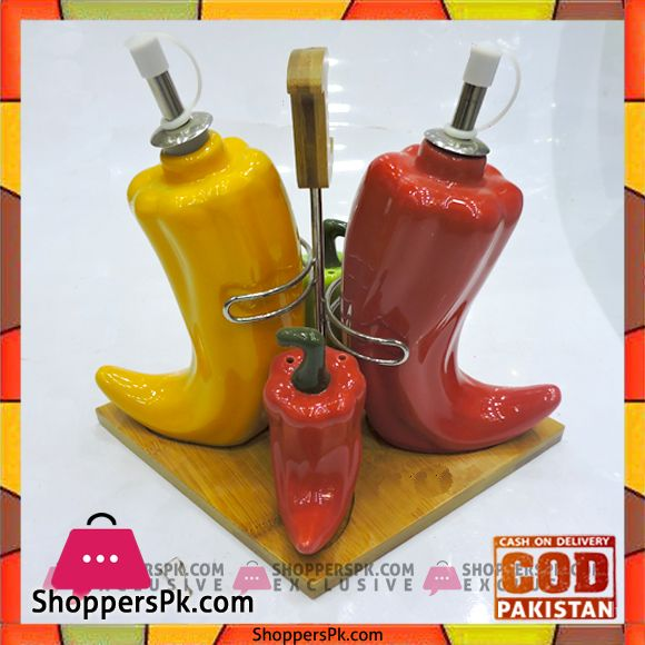 On Sale: High Quality 4 Pieces Chili Style Condiment Set in Pakistan Price Rs. 1200 https://www.shopperspk.com/product/high-quality-4-pieces-chili-style-condiment-set/