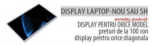 Display laptop nou sau second hand cu montaj gratuit. Avem sute de display-uri de toate diagonalele,12.1' 14'' 14.1'' 15'' 15.4'' 15.6'' 17'' 17.1'' etc. http://www.dezmembrare-laptop.ro/ro/24-display-laptop-second-hand