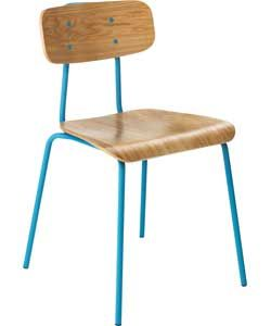 Habitat Hester Airforce Blue Dining Chair.