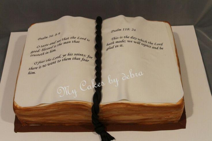 Open Bible Groom Cake