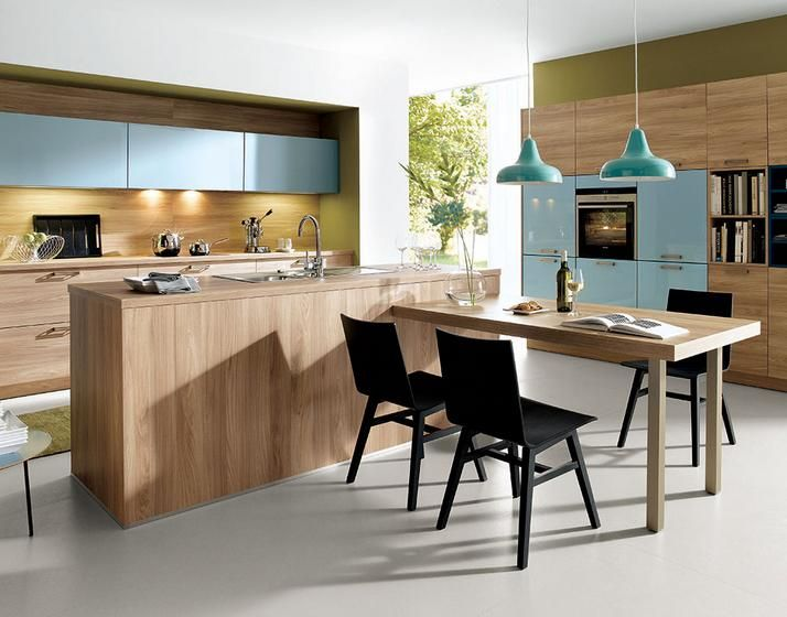 Inspiration for an Albedor kitchen in Sandwood, with pops of colour from Akril