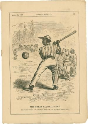 """Our Colored Brother"""" Comes Up to Bat with the 15th Amendment by FIFTEENTH AMENDMENT: New York No binding - Seth Kaller Inc."""