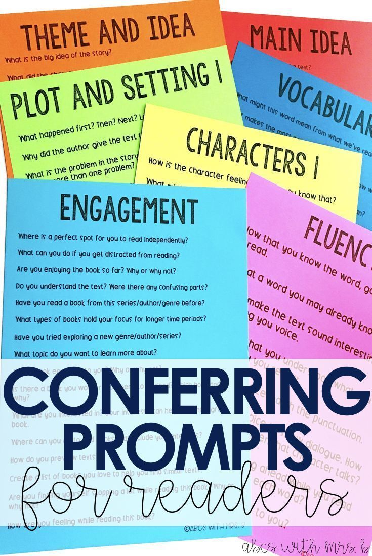 I started conferring with my students during reader's workshop this school year and it's been amazing! Here are some great prompts to use during your reading conference to check for comprehension!