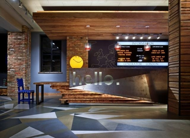 generator london renovierung hostel neuen look rezeption holz - elegantes interieur wohnung renovierung london