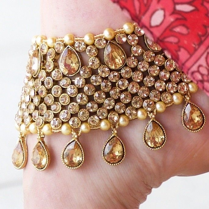 Gold Bollywood ankle bling ❤️