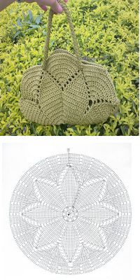 Crochet purse pattern. Diagram. ~k8~