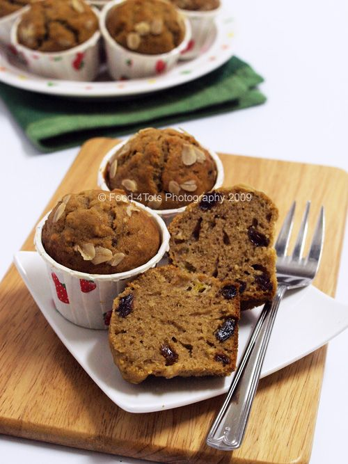 Oatmeal Banana Raisin Muffins | Healthy Food | Drinks | Pinterest