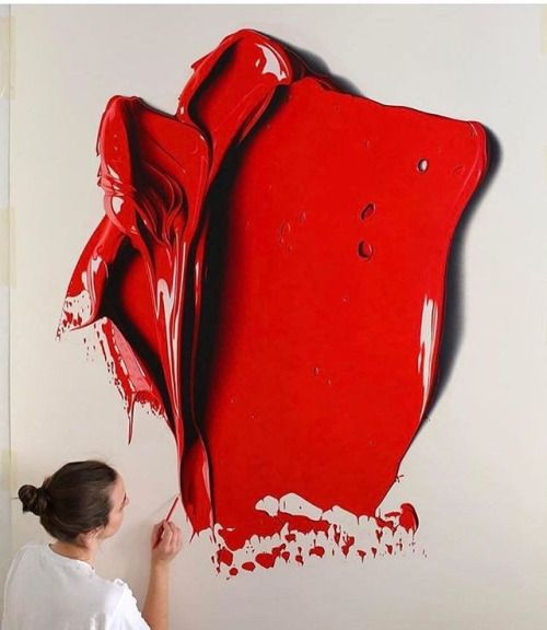 Painting brushstroke by cj_hendry | Shared by @kitslam | #painting #paint #red #artist