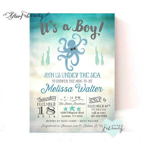 the 25+ best sea baby showers ideas on pinterest | ocean theme, Baby shower invitations