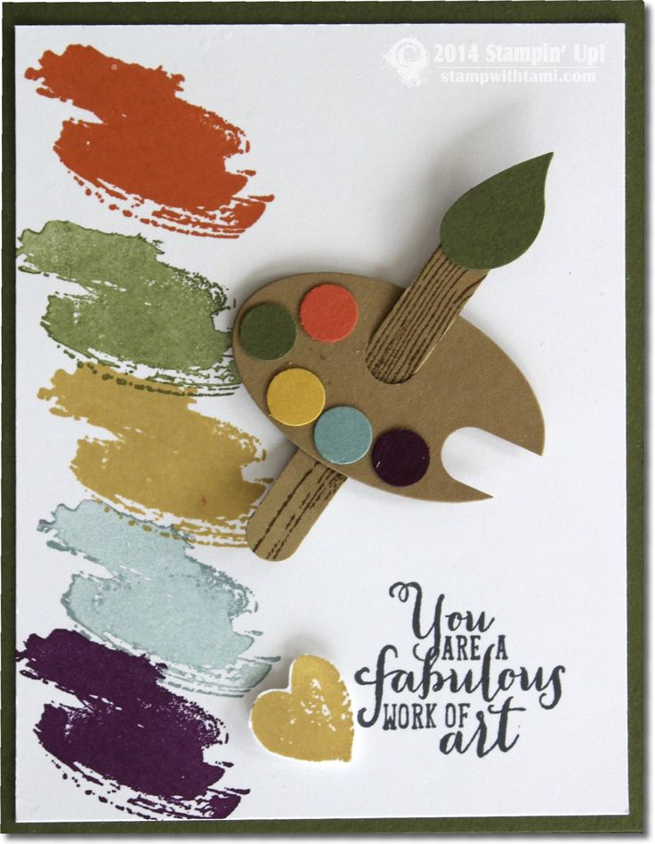 Stampin Work of Art – Artist Palette Card.