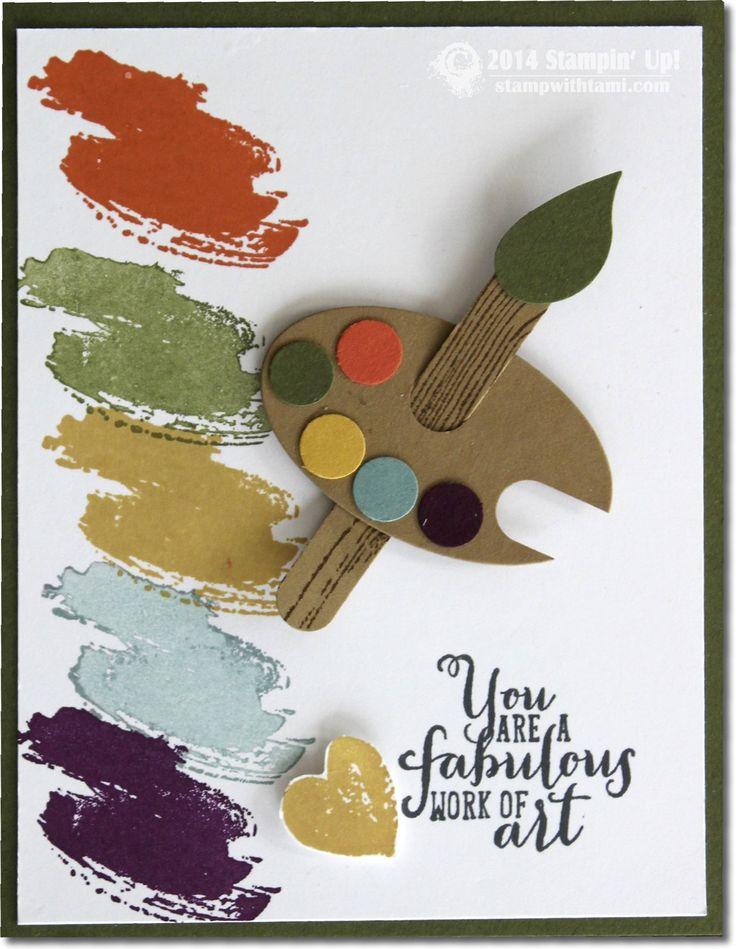 Stampin Work of Art – Artist Palette Card.