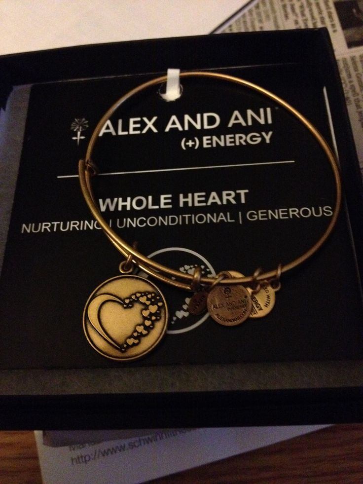 Whole heart Alex and Ani bracelet