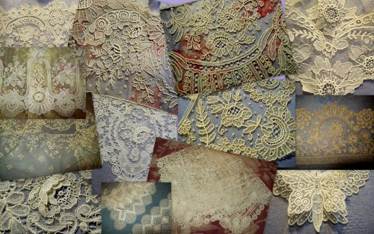 mosaic of antique french lace