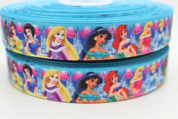 Новый 7/8 ''Бесплатная доставка принцесса мультфильм печатных grosgrain ленты hairbow поделки украшения партия оптовая OEM 22 мм P755