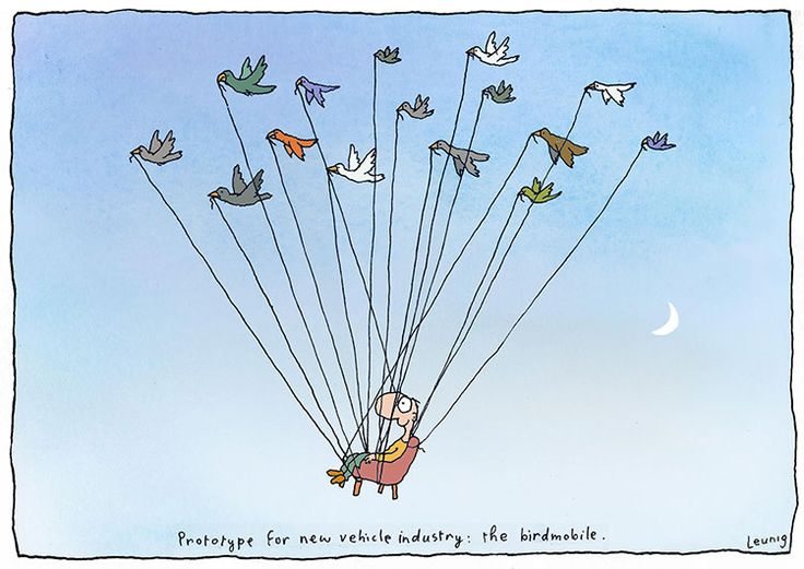 Birdmobile - Michael Leunig