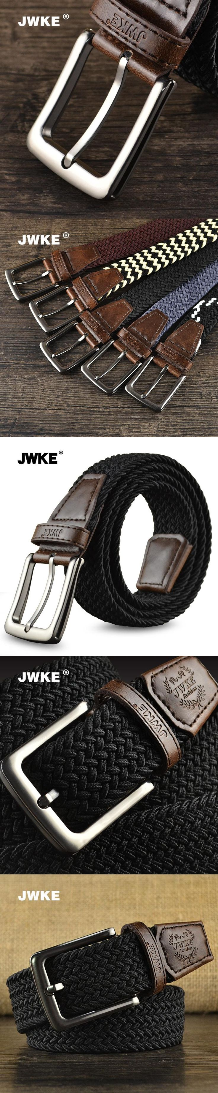 JWKE men's casual elastic belt buckle male canvas woven belt belt all-match trend of Korean youth 5 COLOUR