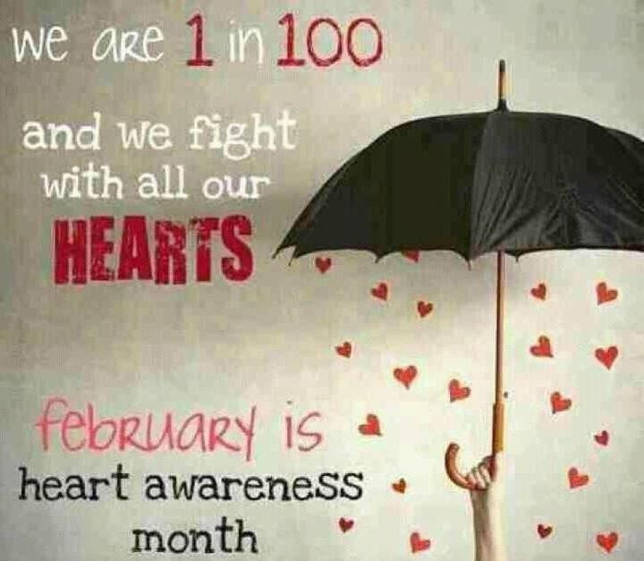 It's heart month! 1 in 100 babies are born with a heart defect!