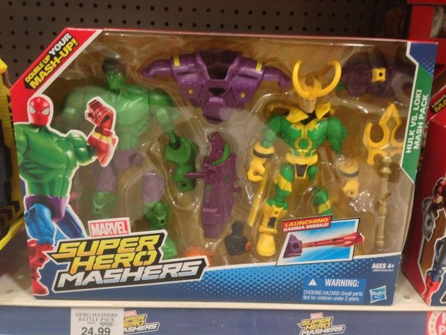 Marvel Mashers Loki vs. Hulk Figures Pack