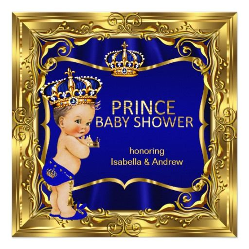 78 Best Images About Blue Gold Prince Baby Shower