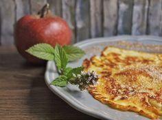 Apfel Pfannkuchen mit Dinkelmehl, schnell und einfach zubereitet