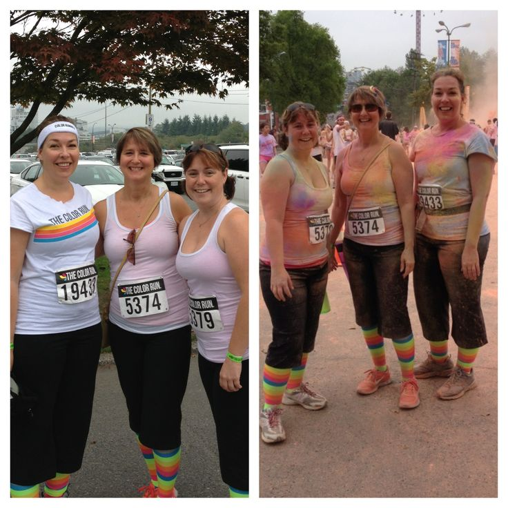 The Color Run 2013 with Laura and Brandi