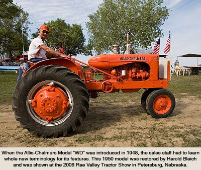 Allis Chalmers Model WD 1948 tractor.. love these tractors, thanks to my dad!