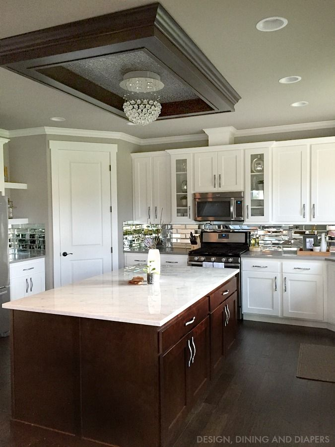 Attractive Gray And White Kitchen Reveal