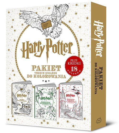 [ZAPOWIEDŹ WYDAWNICZA] Harry Potter. Pakiet trzech książek do kolorowania!