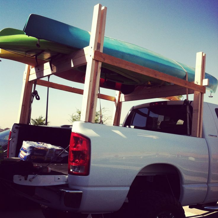 Kayak rack that only cost $40 instead of $400 for the metal ones.