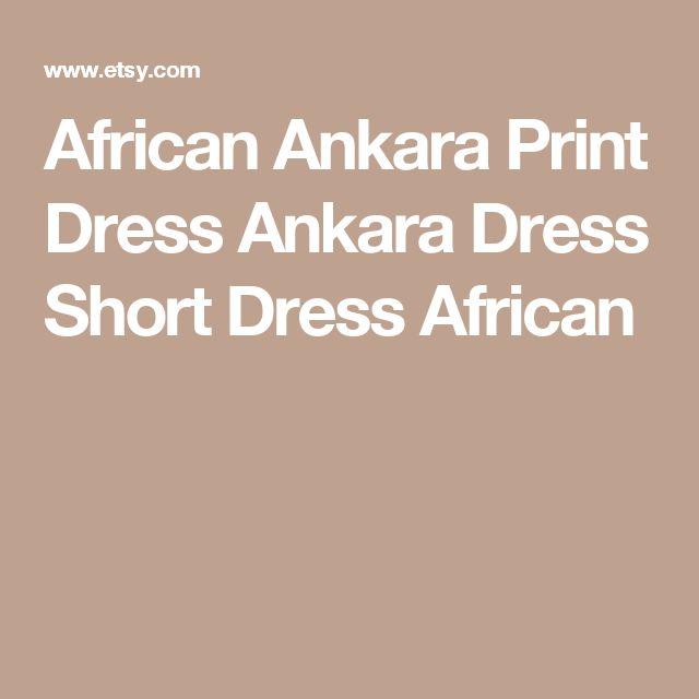 African Ankara Print Dress Ankara Dress Short Dress African