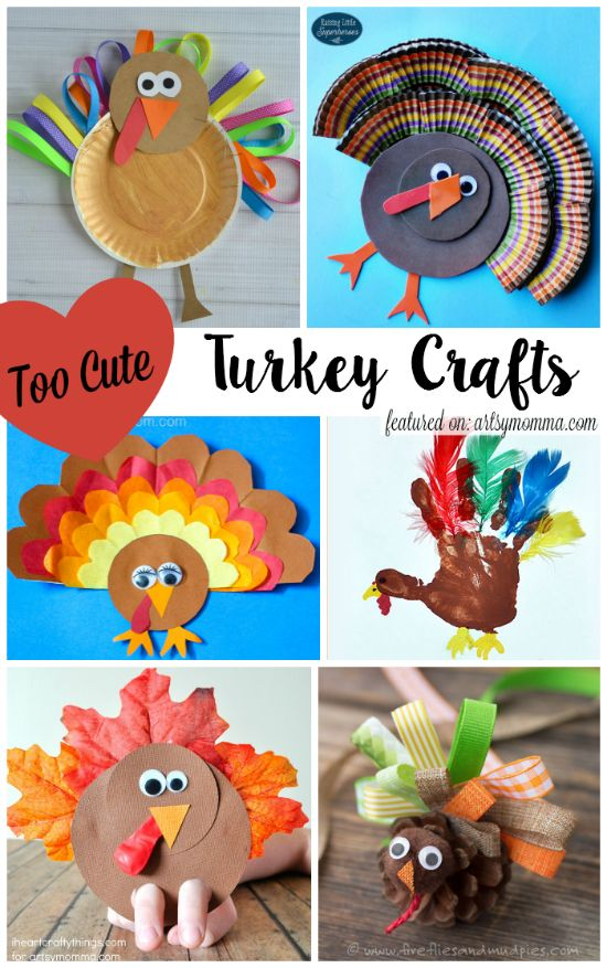 10 Too Cute Turkey Crafts For Kids Kids Thanksgiving Ideas