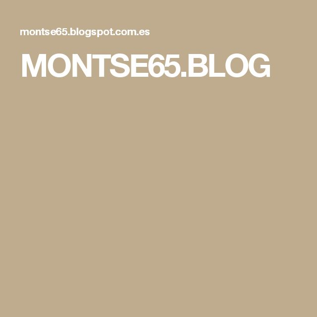 MONTSE65.BLOG