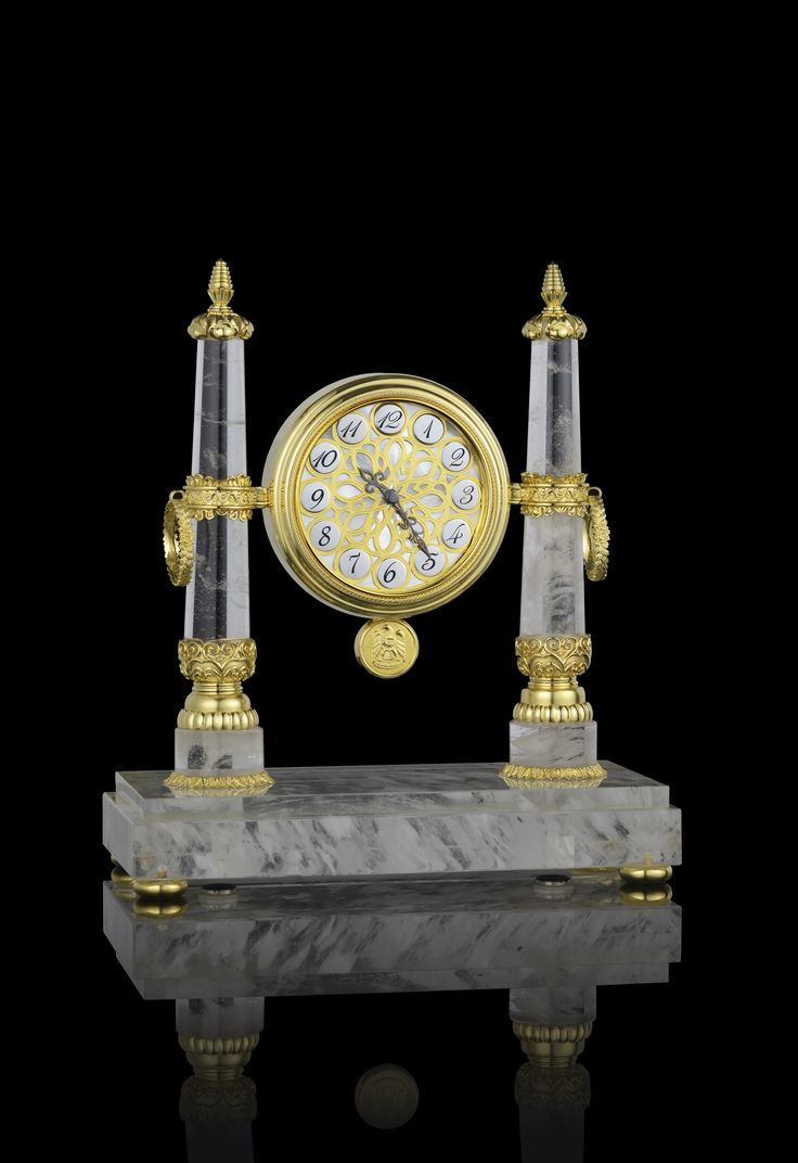 Rock Crystal Clock by Royal Insignia.