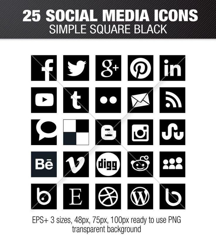 130 Best Social Media Icons Images On Pinterest