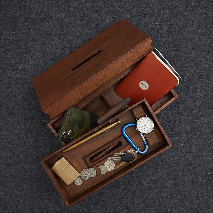 Wood Tool Box / Handmade in Nicaragua with Nogal, aka Tropical Walnut