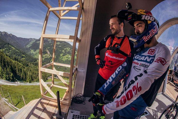 Aún estamos delirando con Fort William y Claudio Caluori ya está en Leogang para probar la pista junto a Marcelo Gutierrez!