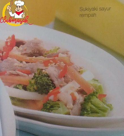 Resep Hidangan Lauk Sukiyaki Sayur Rempah, Masakan Sehat Untuk Diet, Club Masak