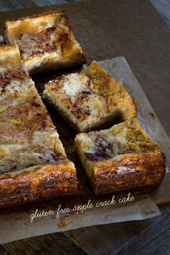 """Addictive Gluten Free Apple """"Crack"""" Cake. Made with a gluten free cake mix (make-your-own cake mix recipe included!), this is the simple dessert that you can't stop eating!"""