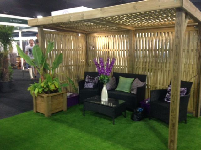 Jacksons first public showing of the new woven retreat for Small garden shelter