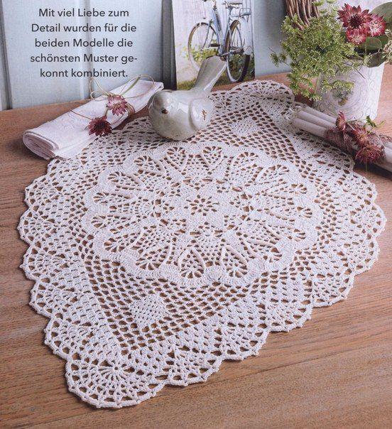 235 best Patrones de ganchillo images on Pinterest | Crochet table ...