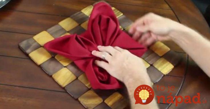 9 tipov na skladanie obrúskov, vďaka ktorým bude slávnostný stôl vyzerať úžasne