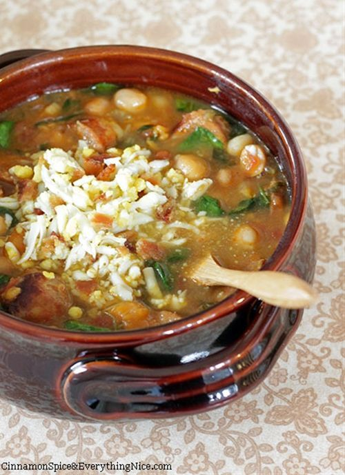 Spanish Chickpea & Chorizo Soup | Recipes - Soups | Pinterest