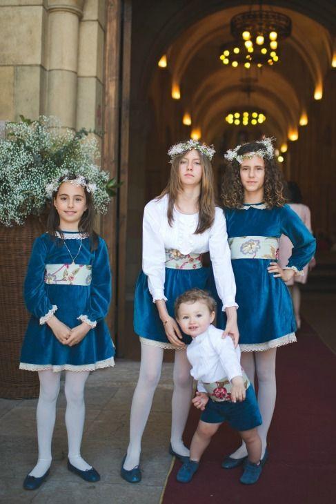 Las niñas de arras, las nuevas 'flowergirls' - El cortejo de la novia al comp...