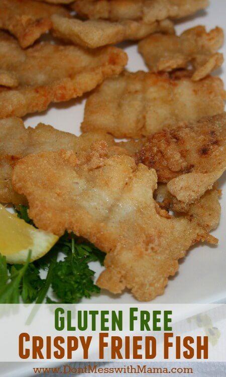 Best Gluten Free Crispy Fried Fish Recipe #glutenfree #recipe #realfood - DontMesswithMama.com
